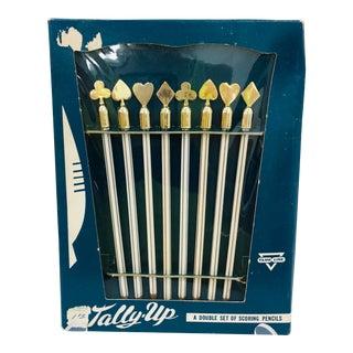Vintage Set Game Scoring Pencils - Set of 8 For Sale