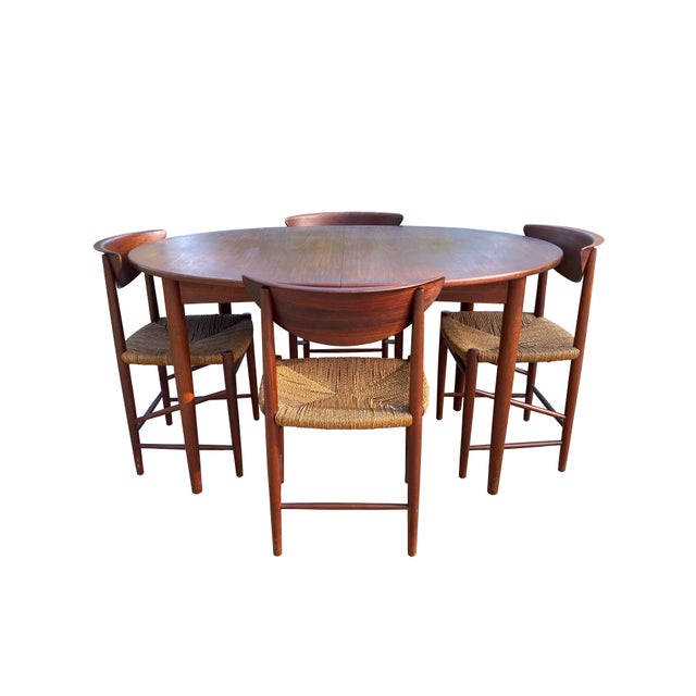 Peter Hvidt and Orla Mølgaard-Nielsen Dining Chairs and Table - Set of 5 For Sale - Image 13 of 13