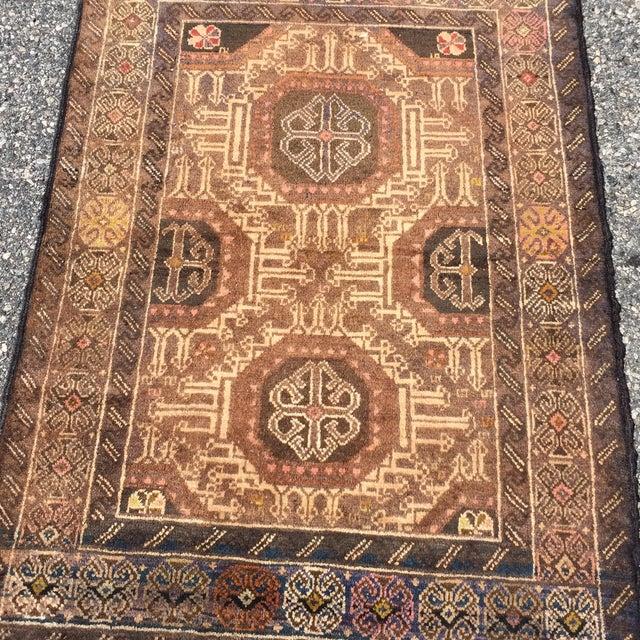 "Vintage Baluchi Persian Rug - 2'10"" x 4'1"" - Image 3 of 11"
