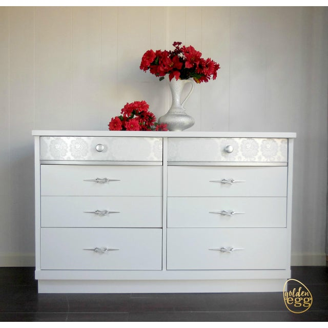 White Mid-Century Modern Dresser - Image 4 of 8