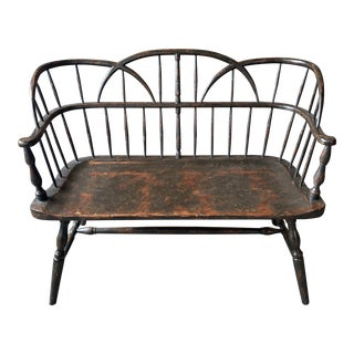 Contemporary Rustic Wood Bench For Sale