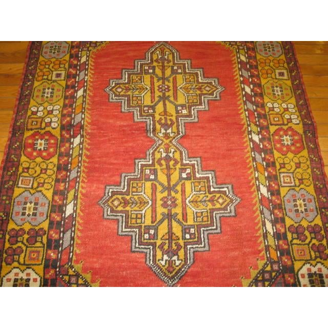 Tribal Small Vintage Tribal Design Rug - 3′7″ × 6′3″ For Sale - Image 3 of 5