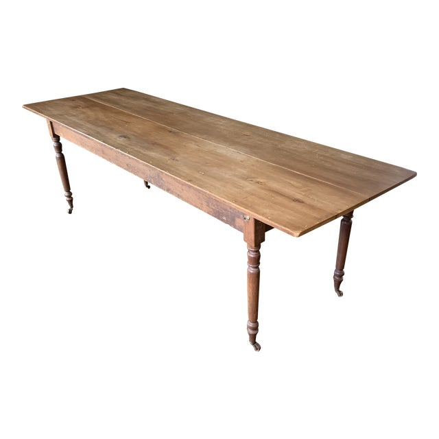20th Century Farmhouse Dining Table For Sale