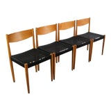 Image of 1970s Vintage Poul Volther for Frem Rojle Danish Modern Dining Chairs- Set of 4 For Sale
