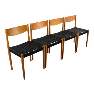 1970s Vintage Poul Volther for Frem Rojle Danish Modern Dining Chairs- Set of 4 For Sale