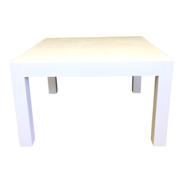 Woven Grasscloth Parsons Coffee Table For Sale