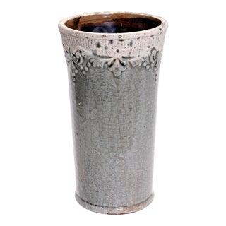 1990s Crackle Glaze Ceramic Vase For Sale