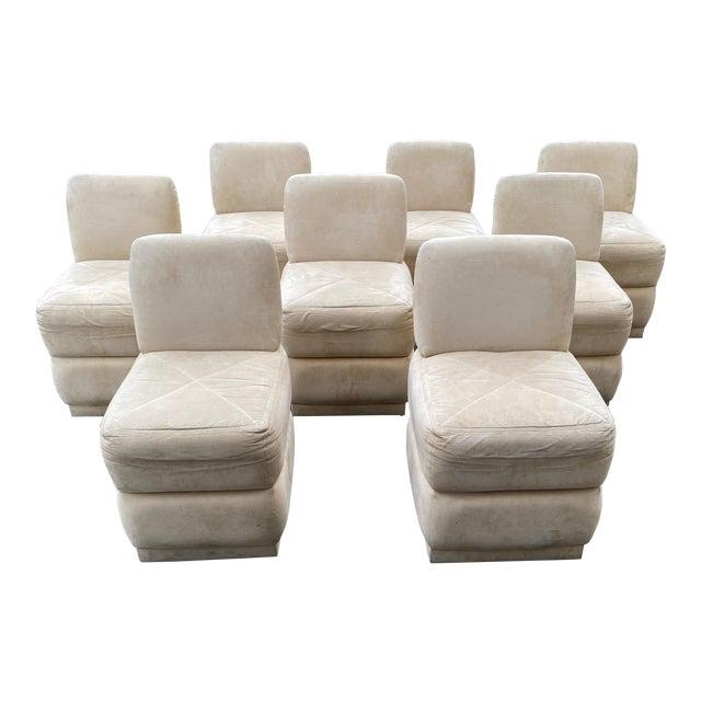 Mid-Century Modern Milo Baughman Style Dining Seats- Set of 8