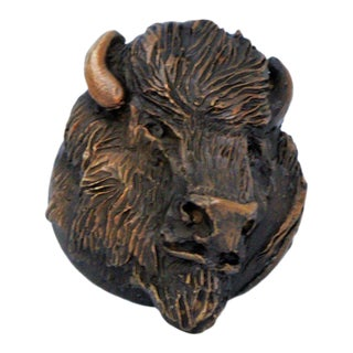 Buffalo Knob with Traditional Patina For Sale