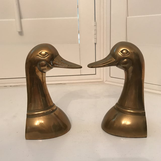 1960s 1960s Danish Modern Brass Duck Bookends - a Pair For Sale - Image 5 of 8
