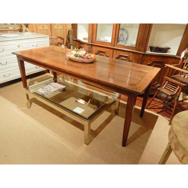 Wood Early 19th C. French Walnut Farm Table For Sale - Image 7 of 8