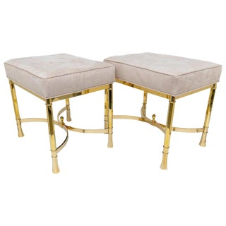 Mastercraft Brass Benches - a Pair For Sale