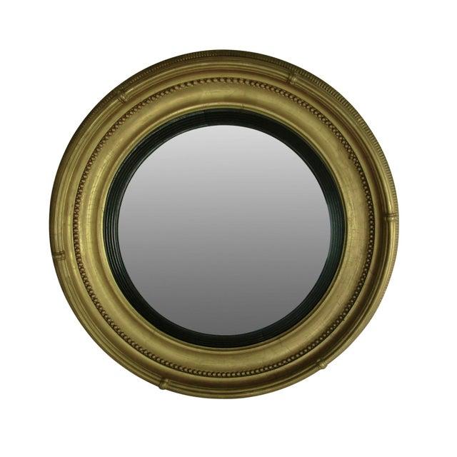 Regency Style Giltwood Convex Mirror - Image 8 of 8