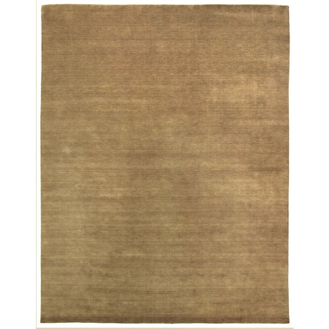 Transitional Exquisite Rugs Trillo Hand loom Wool Beige Rug-10'x14' For Sale - Image 3 of 3