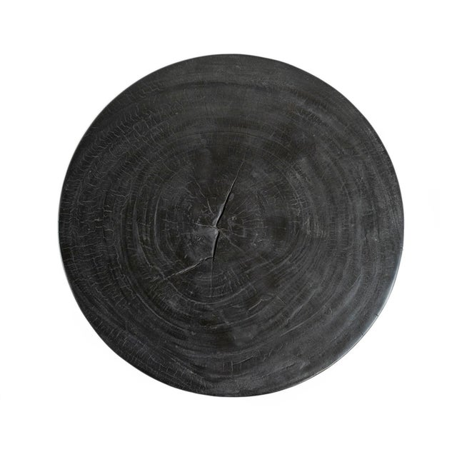 Ebony Round Stump Table For Sale - Image 4 of 6