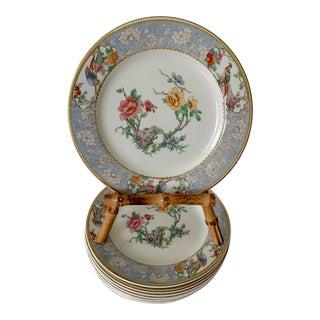 Vintage English Floral Dessert Plates - Set of 8 For Sale