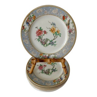 Vintage Johnson Brothers Floral Dessert Plates - Set of 8 For Sale
