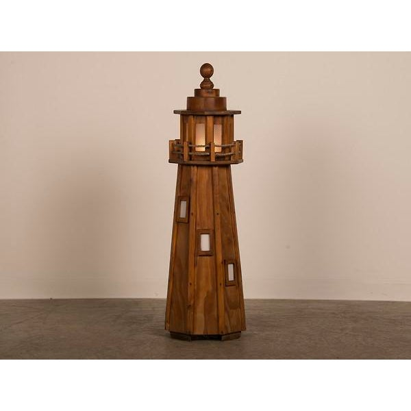 Vintage French handmade lighthouse floor lamp circa 1950. The unique appearance of this lamp emulates the charm and allure...