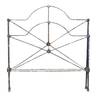 American Victorian Iron Twin Bed For Sale