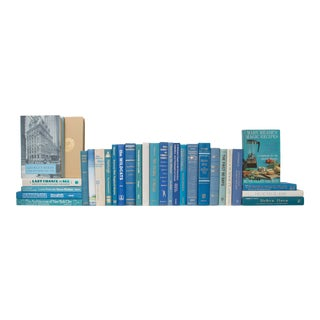 Retro 3 Foot Ocean Wave Book Set - Set of 30 For Sale