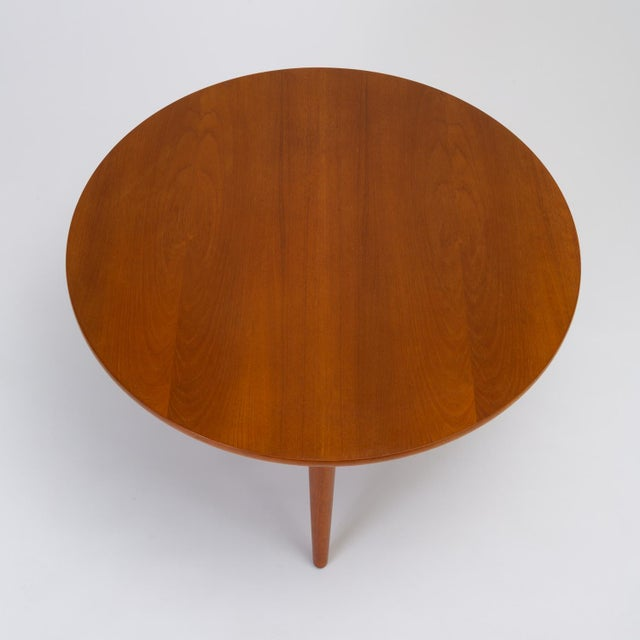 Hans Wegner Three-Legged Teak Coffee Table for Andreas Tuck For Sale In Los Angeles - Image 6 of 12
