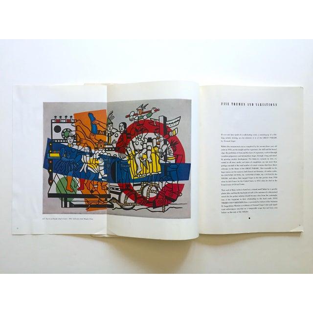 "Fernand Léger Fernand Leger Rare Vtg 1962 Lmtd Edtn "" Five Themes & Variations "" Guggenheim Museum Exhibition Catalogue Collector's Art Book For Sale - Image 4 of 13"