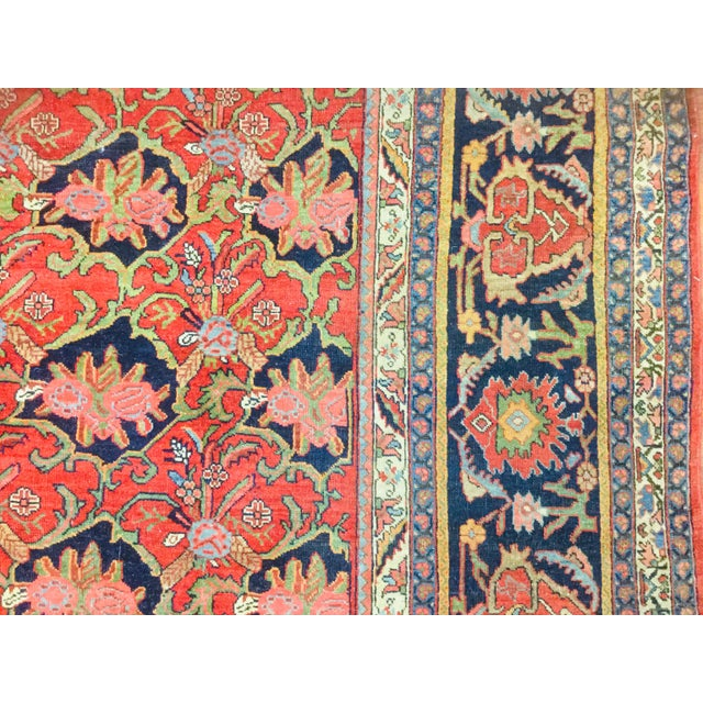 "1920's Persian Bijar Rug-9'1'x12"" For Sale - Image 4 of 10"