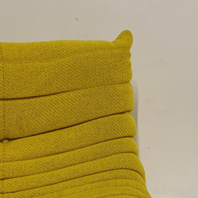 Michel Ducaroy for Ligne Roset Rare Yellow Toga Sofa / Large Settee 2 Available For Sale In New York - Image 6 of 12