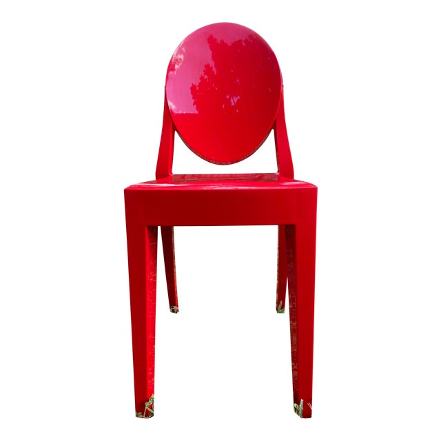 Victoria Ghost Red Chair Phillip Starck for Kartell For Sale