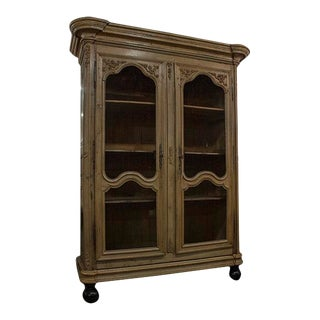 French Bleached Oak Armoire For Sale