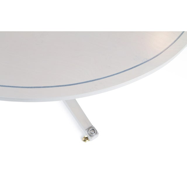 Contemporary Platinum Gray Duncan Phyfe Oval BakerFurniture Coffee Table For Sale - Image 3 of 8