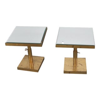 Mid-Century Modern Mirror Top End Tables - a Pair For Sale