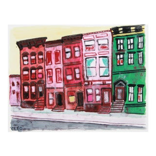 Abstract Rowhouse Street New York by Cleo