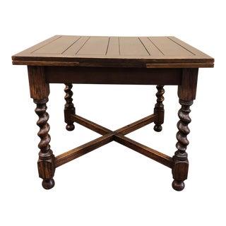 1940s English Traditional Solid Oak Pub Table