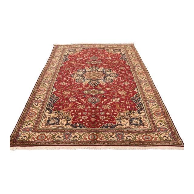 Vintage Turkish Handmade Wool Rug - 6′7″ × 9′10″ For Sale