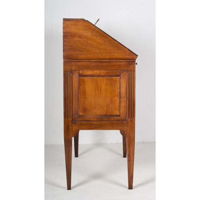 19th Century Louis XVI Walnut Desk/Writing Table For Sale - Image 4 of 6