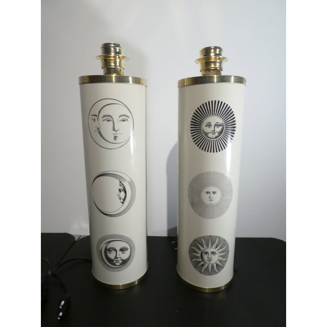 1960s 1960s Vintage Sole Fornasetti Table Lamps - a Pair For Sale - Image 5 of 9
