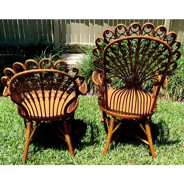 High Victorian Wicker Parlour Set - Set of 6 For Sale - Image 9 of 13