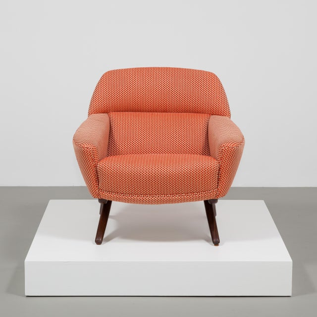 Danish Modern A Danish Leif Hansen attributed Upholstered Armchair 1950s For Sale - Image 3 of 9