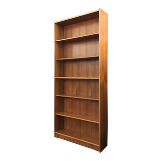 1990's Romanian Modern Six Bay Teak Bookcase in the Manner of Poul Hundevad For Sale