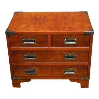 Diminutive Campaign Style Chest or Dresser by Hekman For Sale