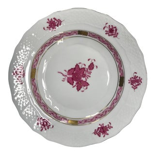 """Herend Chinese Bouquet Raspberry 8"""" Dessert/Salad Plate Pattern #1520 For Sale"""
