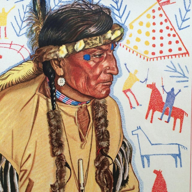 1940s Blackfoot Native American Print by Winold Reiss - Image 3 of 5