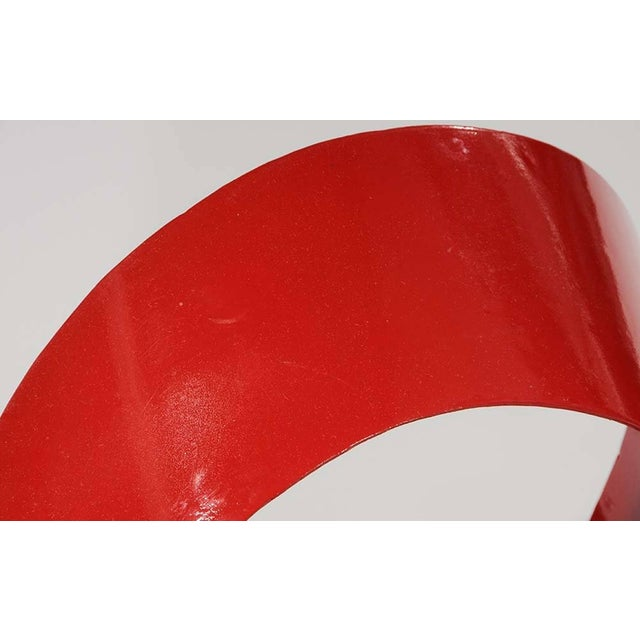 1970s One of a Kind Red Ribbon Sculpture by Paul Chilkov For Sale - Image 5 of 6