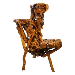 Chinese Sculptural Three Tiered Root Wood Table For Sale