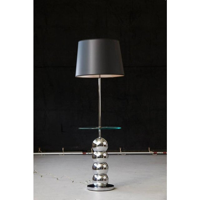 Luxury george kovacs stacked chrome ball floor lamp with george kovacs stacked chrome ball floor lamp with integrated glass table image 5 of 7 aloadofball Image collections