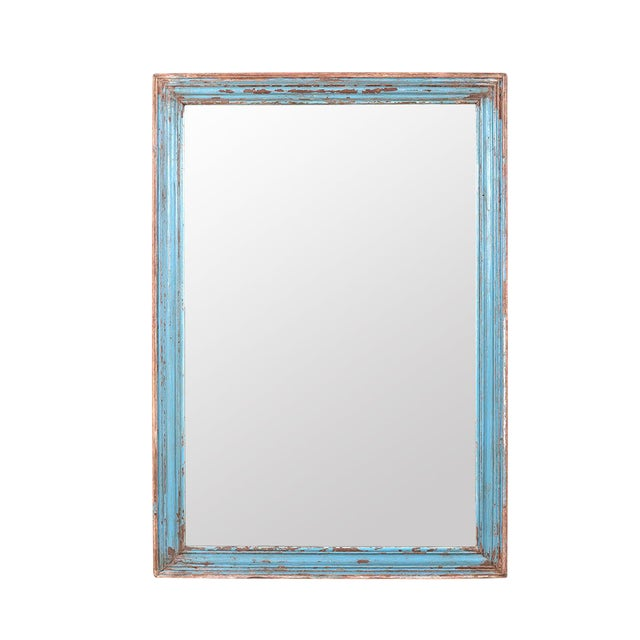 Vintage Rustic Moulding Mirror For Sale