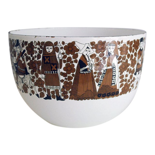 Mid Century Kaj Franck for Finel Enamelware Arabia Bowl For Sale