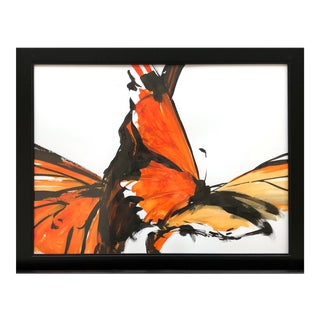 "Contemporary Ink Painting ""Monarch 4"", Butterfly Series, by James Repton For Sale"