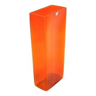 Intense Raymor Vintage Swedish Orange Glass Vase by Gullaskruf Mid Century Modern MCM Millennial- Signed
